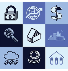 finances logo icons vector image vector image