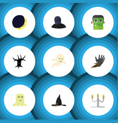 flat icon festival set of zombie terrible vector image vector image