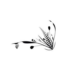 flourish plants black vector image vector image
