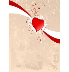 grunge Valentine's card vector image