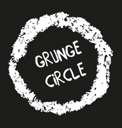 hand drawn grunge crayon circle vector image