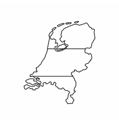 Holland map icon outline style vector image vector image