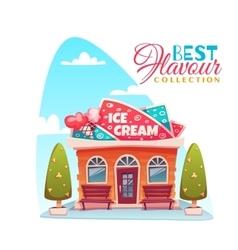 ice cream shop building vector image