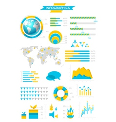 Infographic collection with labels vector
