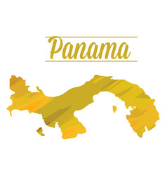 Isolated panama map vector