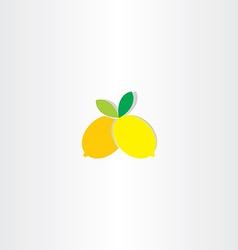 lemon icon design vector image