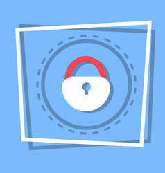 lock icon security protection concept vector image vector image