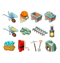 Mining game isometric elements collection vector