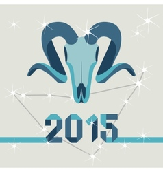 New year mascot goat vector image