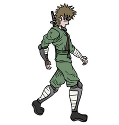 ninja walking vector image vector image