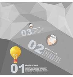Polygon infographic element with flat color vector