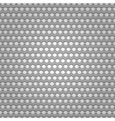 seamless metal surface background perforated sheet vector image vector image