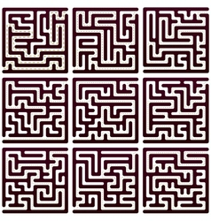 Set of Maze vector image vector image