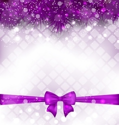 Shimmering Luxury Background with Bow Ribbon vector image
