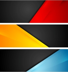 Shiny tech corporate banners vector image vector image