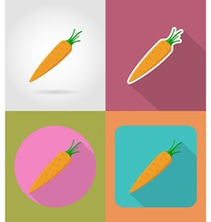 vegetables flat icons 11 vector image vector image