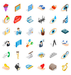 Work calendar icons set isometric style vector