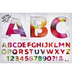 Wrapped alphabet watercolor vector image vector image