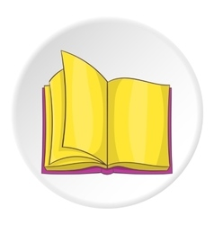 Open book icon cartoon style vector