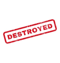 Destroyed text rubber stamp vector