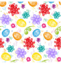 color easterabstract seamless pattern vector image