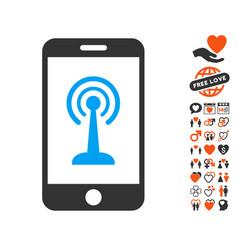 radio control smartphone icon with lovely bonus vector image