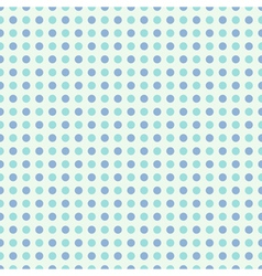 Seamless polka dot pattern in retro style vector