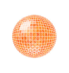 sphere disco ball vector image