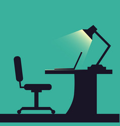 Home or office desk flat style vector