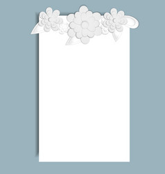 Template for postcard invitation wedding party vector
