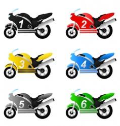 Motorcycle set vector