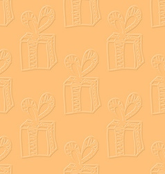 Present box in flat style vector image