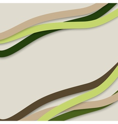 Colorful wavy stripes vector