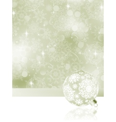 elegant christmas bauble background vector image