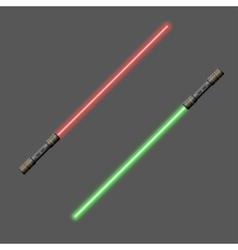 Video game weapon Light swords vector image