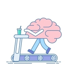 Brain Workout The concept of brain activity vector image