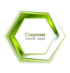Bright green tech logo vector image