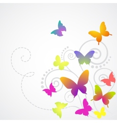 Butterflies background design vector