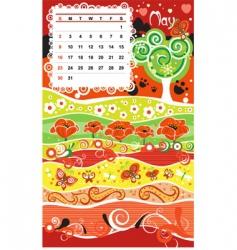 calendar may vector image vector image