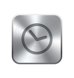 Clock icon button vector