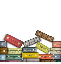 Colored suitcases vector