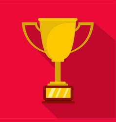 cup award icon flat vector image