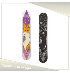 design snowboard fox vector image