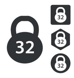 Dumbbell icon set monochrome vector