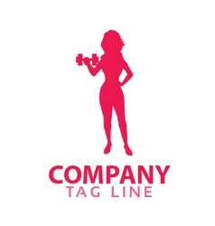 Female Fitness Logo vector image vector image