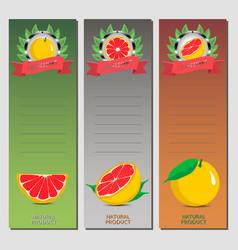 for ripe fruit citrus grapefruit vector image