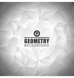 Geometry metal background design vector