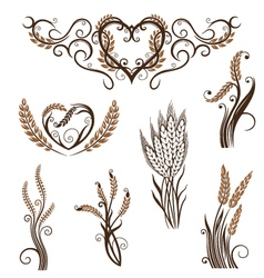 Grain bread bakery vector