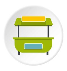 Green street kiosk icon circle vector