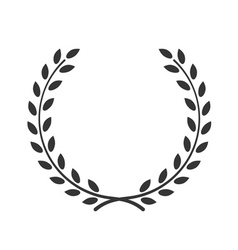 Laurel wreath symbol victory achievement vector